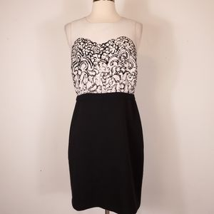 Ann Taylor LOFT Black & White Career sheath Dress